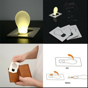 Details About Portable Pocket Led Card Light Lamp Gifts Ultra Thin Small Night Light Cute