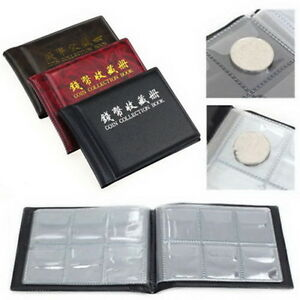 60-120-Coin-Own-Holders-Penny-Collection-Pocket-Storage-Money-Album-Book-jhb