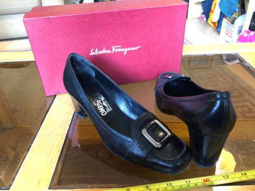 Heels Quality Salvatore 175 Italian Ferragamo 7 5 Buckle Rrp £ Size Box Black wY1tY