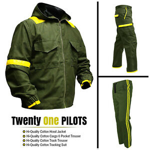 9fcf3cfb17e37 Image is loading Twenty-One-Pilots-Storm-Again-with-Jumpsuit-Green-