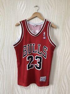 new concept 275e1 4d5bf Details about CHICAGO BULLS BASKETBALL SHIRT JERSEY CHAMPION # 23 MICHAEL  JORDAN NBA sz XS