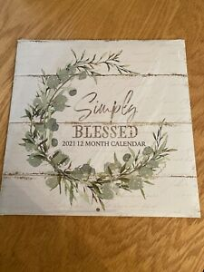 2021-12 Simply Blessed Monthly Calendar Farmhouse Dollar ...
