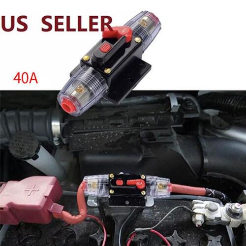 12//48 V Auto Audio Leistungsschalter Schutz Sicherungshalter 4 8 AWG Draht