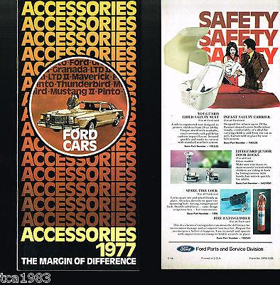 Räder, Mustang Aufstrebend 1977 Ford Optionen/zubehör Anleitung Broschüre/katalog P In