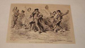 1880-Revue-Gravure-un-Mariage-en-Du-Sud-Espagne