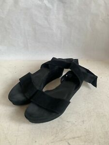 black suede and ankle wrap sz 10