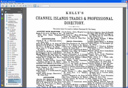Kelly/'s Directory of the Channel Islands 1898 CDROM