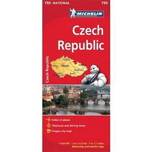 Czech Republic Michelin National Map 755 Motoring Tourist Map eBay