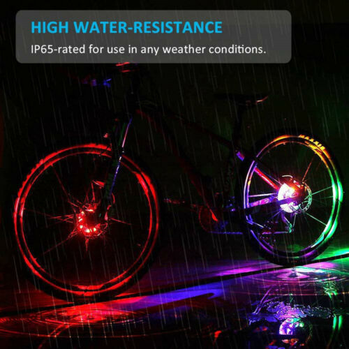 Rechargeable LED Bike Wheel Bicycle Lamp for Cycling Warning Lamp