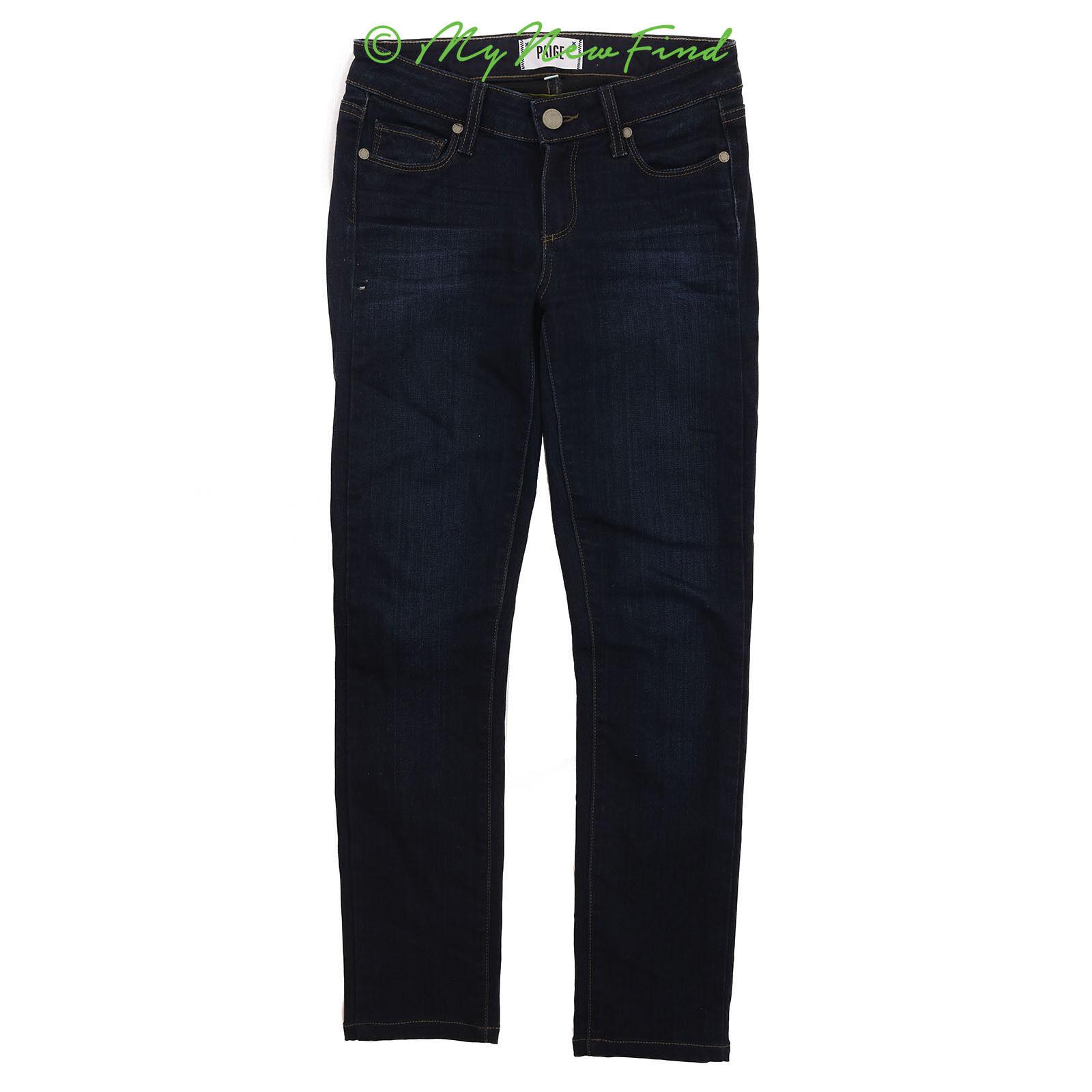 Paige Denim Skinny Skyline Jeans Size 24 Stretch Mona Wash Dark bluee Pants  B59