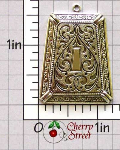 2 Victorian Pendant Findings Ox Silver Plated Brass 1261so2