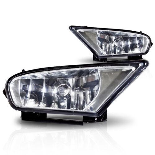 For 2007-2011 Clear Lens Chrome Housing ABS Plastic Fog Lights Lamps