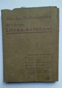 Antenna radio tsf antica poste galena Litzen-Antenne rara imballaggio originale
