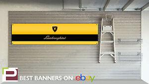 Lamborghini Workshop Garage Banner Gallardo, Murcielago, lp640, Countach, Diablo