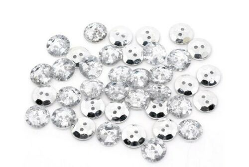 Strass Ronde Cristal Boutons Gem 2 trous sewing craft 20//50//100//200