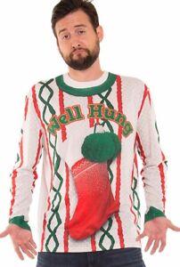 eab30952717 Well Hung T-Shirt Naughty Christmas Xmas Ugly Sweater Adult Funny ...