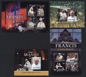 St. Vincent Grenadinen Union Island 2014 - Papst Franziskus - Pope Francis - MNH