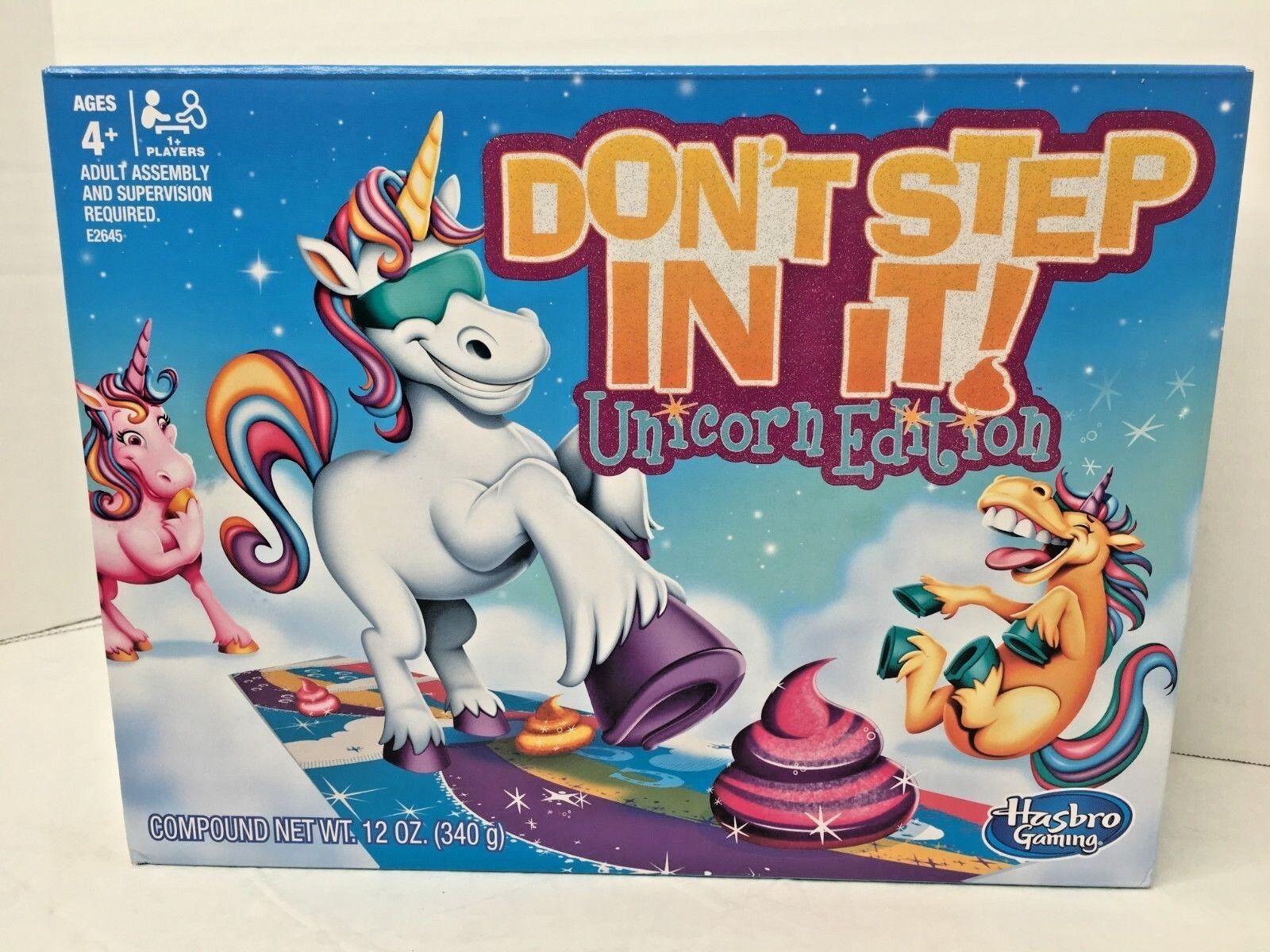 Don T Step In It Unicorn Edition Rainbow Poop Brand New Hasbro Board Game Ebay