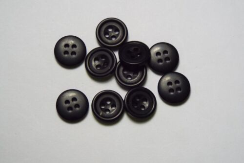 10pc 13mm Matt Black holed Cardigan Trouser Shirt Kids Baby Button 0521