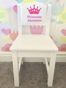 PERSONALISED-WOODEN-CHAIR-GIFT-Crown-Princess-or-Prince-Name-Kids-Chair-Keepsake