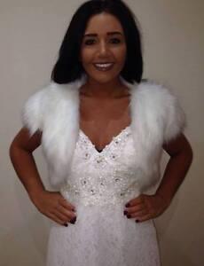 New-Ivory-Faux-Fur-Winter-Shrug-Bridal-Bolero-Jacket-Evening-Party-Wedding-UK