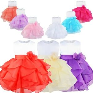 8e8256541 Flower Girls Toddler Baby Princess Party Dress Pageant Wedding ...