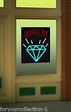 Miller's Jewelry  Animated Neon Window Sign   #8970  O/O27 HO scale