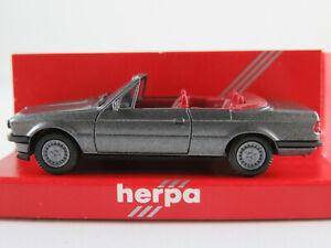 Herpa-3059-BMW-325i-Cabriolet-1985-1989-in-graumetallic-1-87-H0-NEU-OVP