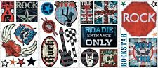 BOYS ROCK AND ROLL WALL DECALS 25 New Stickers Signs Guitars Music Decorations