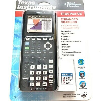 TEXAS INSTRUMENTS Ti-84 Plus CE ENHANCED GRAPHING LATEST MODEL MINT COLOR