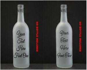Customised Wine Bottle Vinyl Sticker Design Your Own Led Memory Ebay