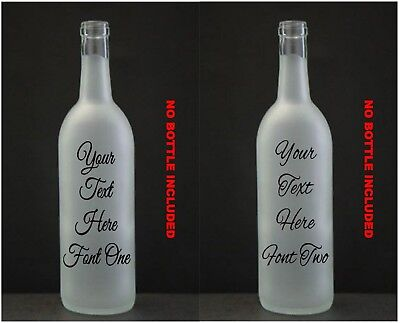 Wine Bottle Vinyl Decal Sticker VINYL ONLY Someone In Heaven At Our Wedding