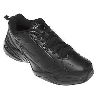 NEW Men's NIKE AIR MONARCH Black Leather Athletic Casual Fashion Walking Shoes