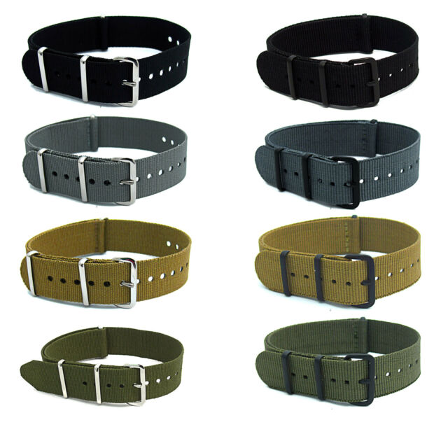 NATO Watch Strap Band Webbing Army Military Choice of colours, sizes and buckle