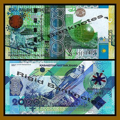 7th Asian Winter Games Comme. 2011 Kazakhstan 2000 2,000 Unc Tenge P-36