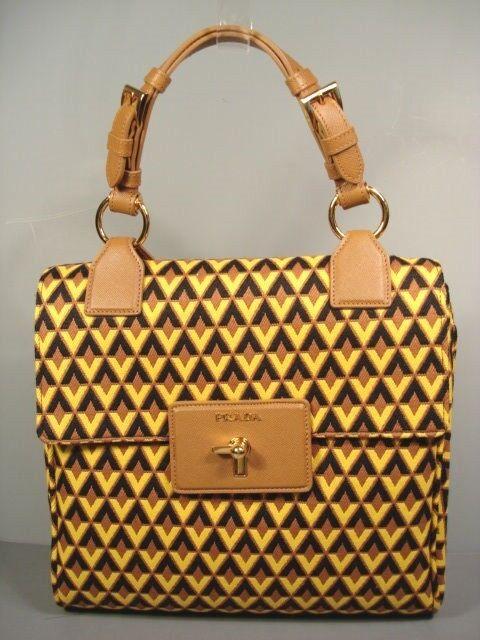 c5bac3dadc3f ... promo code for prada top handle geometric diamond print tessuto jaquar handbag  bag purse ebay aa164