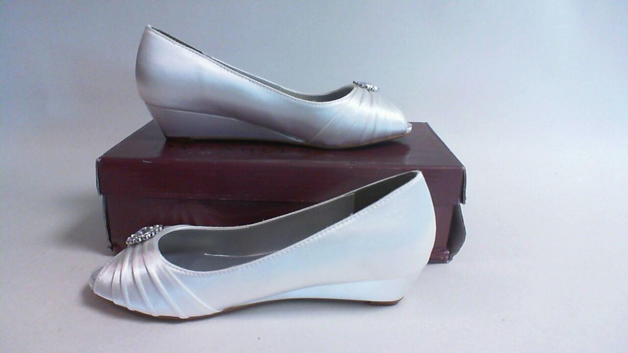 New Dyeables Wedding Shoe- Ivory Satin - Anette- US 6.5D UK 4.5 #3B515