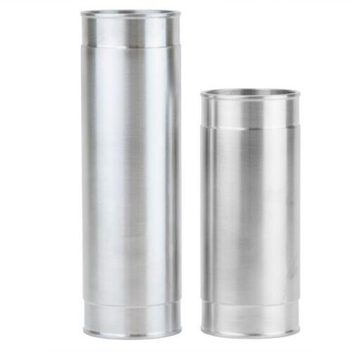 Air intake pipe 2.5 OD x 12 straight wall heavy tube aluminum undercut ends