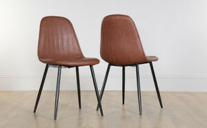 Image Is Loading 2 4 6 8 Brooklyn Tan Leather Dining