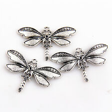 Lot 2pcs Zinc Alloy Dragonfly Charms Pendants For DIY Making Bead185