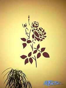 Wandtattoo-Rose-Wandaufkleber-Deko-Bletter