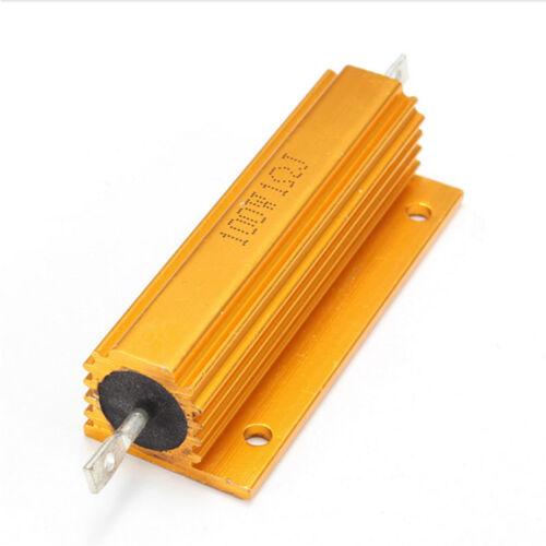 New 1//2//4//8//10 Ohm 100W Watt Shell Power Aluminum Housed Case Wirewound Resistor
