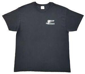 Vintage-Krav-Maga-Gun-Tee-Black-Size-XL-Mens-T-Shirt-Distressed
