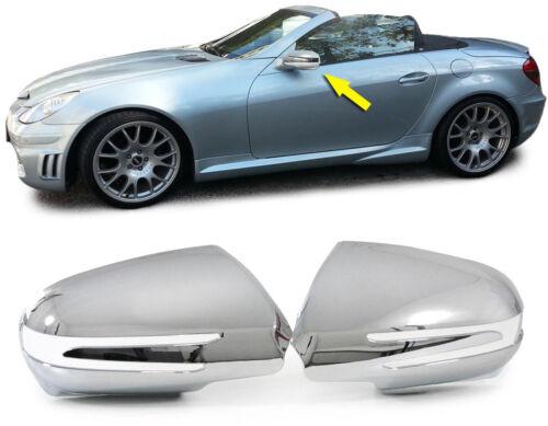 Aussen Spiegel Kappen Abdeckungen Cover chrom für Mercedes SLK R171 Facelift