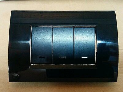 Clipsal PDL Modena Black Switch with LED ( 3 ) Three Gang Large Switch 16A 250V
