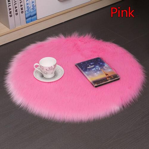 35cm Modern Round Fluffy Cushion Chair Pad Winter Soft Thick Faux Fur Floor Mats