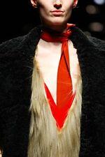 PRADA FALL 2014 RUNWAY Burnt Orange Silk Skinny SCARF ~NWT~