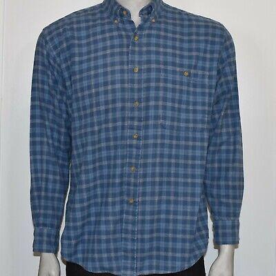 Bill Blass Mens Large Blue Button Down Shirt Long Sleeve