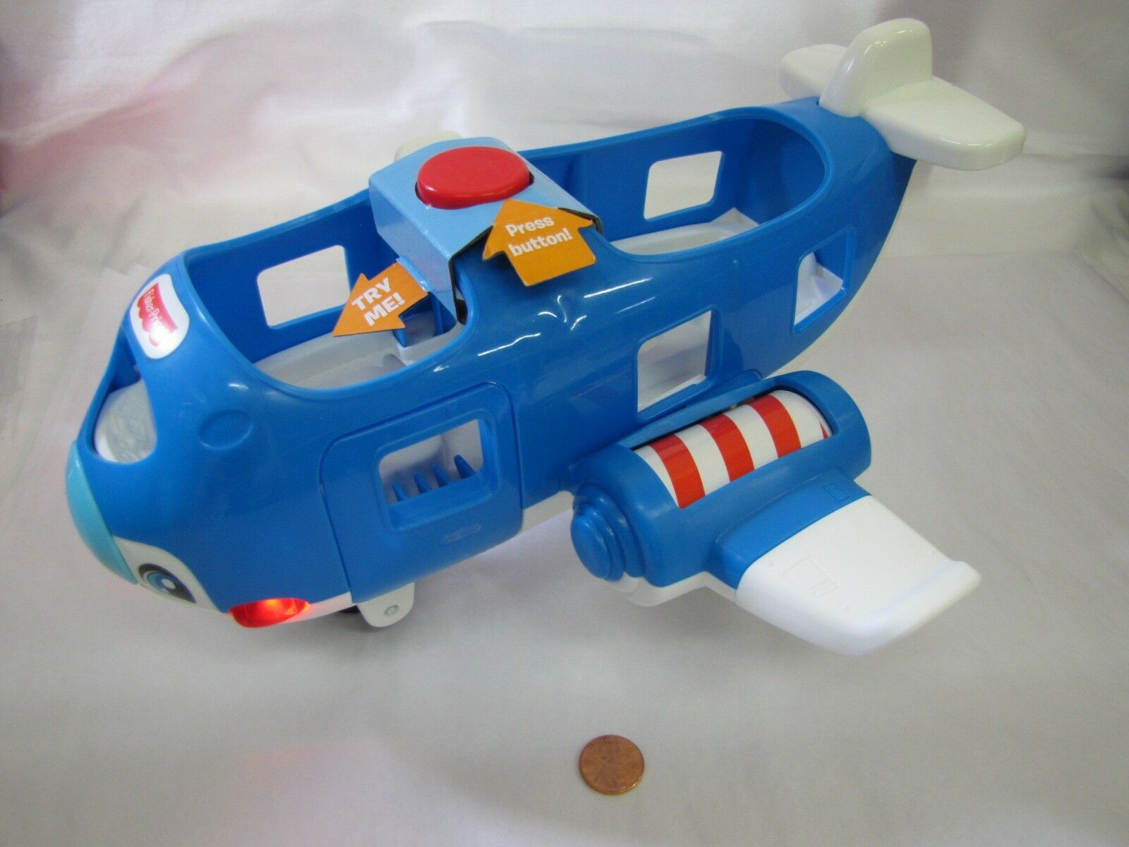 New Fisher Price Little People AIRPLANE PLANE Musical Sounds Lights for Airport