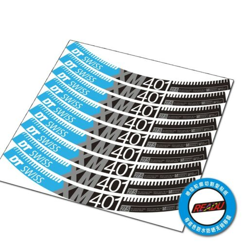 DT SWISS XM401 Wheel Rim Stickers for MTB Bike Bicycle Race Cycling Decals 22mm